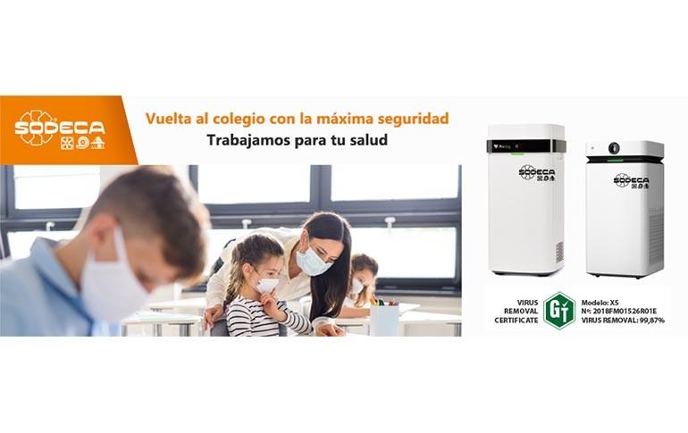 Nuevo purificador de aire para eliminar virus y bacterias de Sodeca