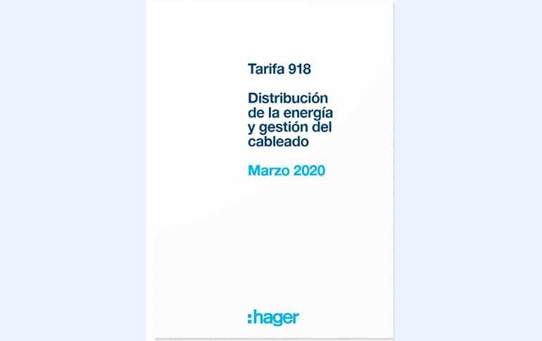 Tarifa 918 de hager