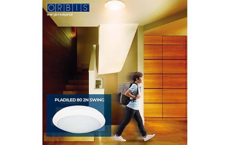 Nuevo Plafón con Detector PLADILED 80 2N SWING de ORBIS