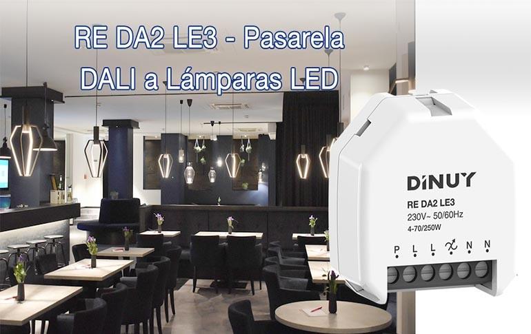 Nueva pasarela DALI a LED de DINUY