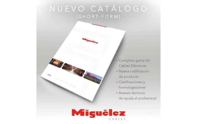 """Nuevo catálogo """"SHORT-FORM"""" de Miguélez Cables"""