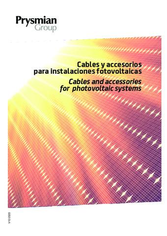 Guía técnica y catálogo de cables y accesorios para instalaciones Fotovoltaicas.
